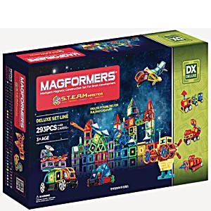 Магнитный конструктор Магформерс S.T.E.A.M. MASTER 293 детали + Саунд бокс в подарок