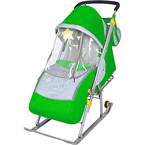Санки коляска Ника 4 зеленый